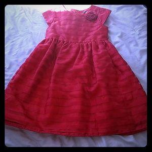 George beautiful red dress